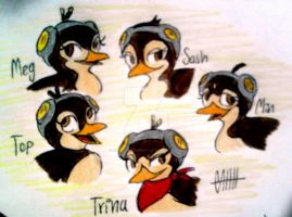 Trina and her group by Skip-Penguinesco