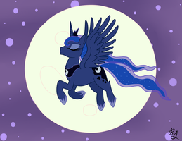 Full Moon Rising by PhoenixSwift