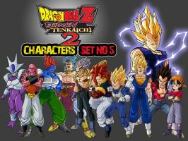 Dragon Ball Z Characters Set5 by The-Lonely-Wolf