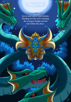 Smite Art - Dragon Scylla by A-Lil-RnR