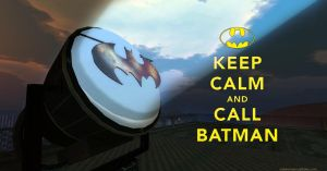 Keep Calm and Call Batman by chrisdee
