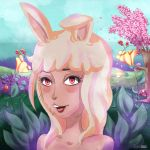 Lapin Blanc, the Cute Bunny by LunaBih