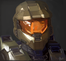 MasterChief drawing by Willatorx