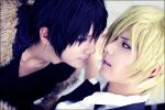 Izaya vs Shizuo cosplay by BaoziandHana
