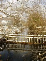 bridge with the snow by KoyukiShiro