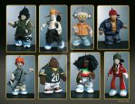 Tribes: Collection of textile figurines Size 15cm by Spoonygee
