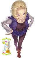 Android 18/Androide 18 Render ~ by debbiichan