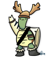 Viking Turtle by pickles-4-nickles