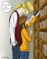 Jareth Teacher and Sarah - library by 10esas