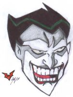 Bruce Timm's Joker ink'd by sebatman
