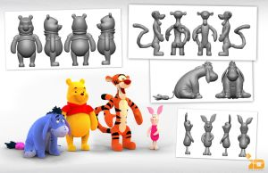 3D Pooh and Friends by Baron-Von-Jello