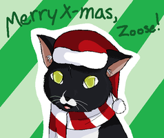 Merry Christmas, Zoose by deluxecheeseburger