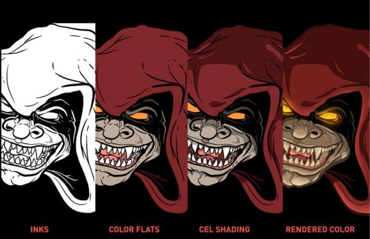 Evil Head Color Process by PaulSizer