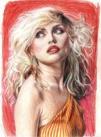 Debbie Harry . pencil . colour by Bitterkawaii