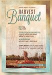 Harvest Banquet Church Flyer and CD Template by Godserv