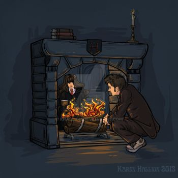 The Witch in the Fireplace by khallion