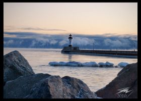 Winter Lighthouse by Murphoto