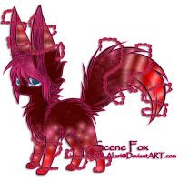 Scene Fox Adoptable ~ 6 [CLOSED] by BiahAdopts