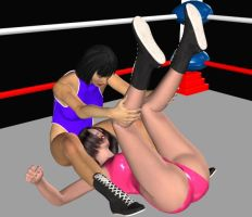 women wrestling pin by cattle6