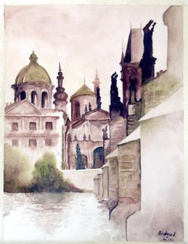 Ruines - water colours by shehzadm
