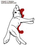 Injured Wolf Lineart .:Point Commission:. by kemiro-wolf