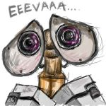 wall-e open canvas sketch by crow-feet
