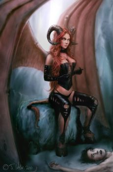 succubus by dypsomaniart