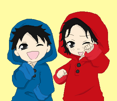 Little Luffy and Ace by Pascaldo