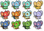 Poke Doll Shinx Adoptables by LV9