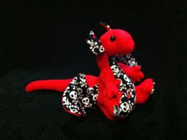 Red Pirate Dragon Poseable Plush by MythfitCreations