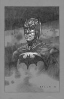 Batman Backer board sketch by stevenrussellblack