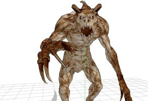 MMD Deathclaw by MMDFuph