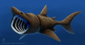 Basking Shark by ALA1N-J