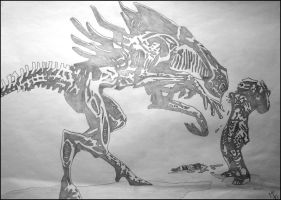 Alien_Queen_Vs_Predator by JOrte