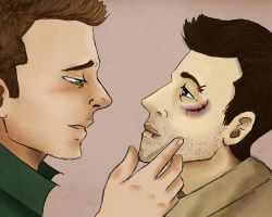 Destiel- Wounded by Arei-chan
