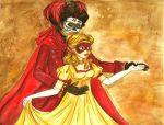 The Red Death and His Lady by Punjabchild