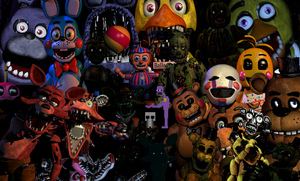 All FNAF Characters by EllyProductions49