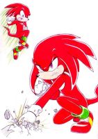 Gift: Knuckles by Amortem-kun