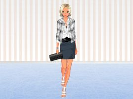 Feminine and Chic fashion by Brandee-Ssj-Doll