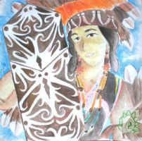 Girl from Borneo by indonesia