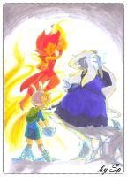 Flame Prince vs Ice Queen by 415sonic