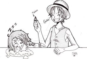 Luffy and Ace by Rainbow-of-despair