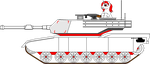 The Pony Tanker and the M1A2 Abrams by darkwoon