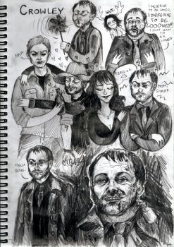 Crowley sketchdump by Kociepierogi