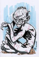 Gollum D'n'D sketch by SpiderGuile
