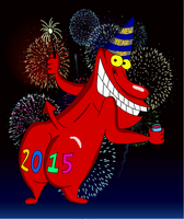 Red Guy New Year 2015 by jtcartoon92