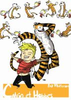 Calvin and Hobbes colors by stephgallaishob