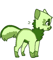 Green kitty adopt CHEAP by Avacadomutt