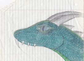 Old Art from 6th grade (year 1990) (Dragon3) by Gneiss-chert