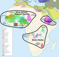 Map of Major Historical African Civilizations by FringerFrankie
